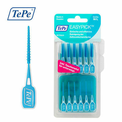 TePe Easy Pick M/L 36 pieces Blue. Travel Case. Choose Quantities. Medium/large