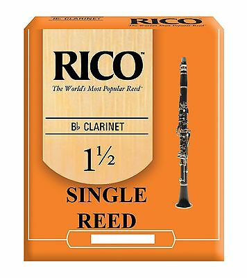 Rico Bb Clarinet Orange Single Reed Strengths 1.5 2 2.5 3 3.5 Free Delivery