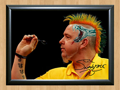 Peter Wright Darts Sports Signed Autographed A4 Poster Photo Print Memorabilia