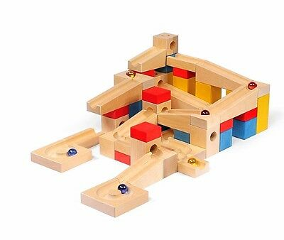 68 PCS Marble Runs Race Game Building Construction Wooden Blocks Game Play Kids