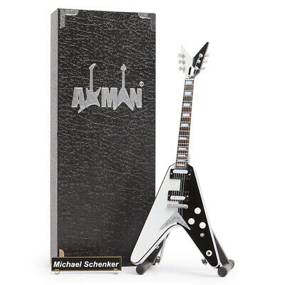 Miniature Guitar Replica: Michael Schenker Signature Flying-V (UK Seller)