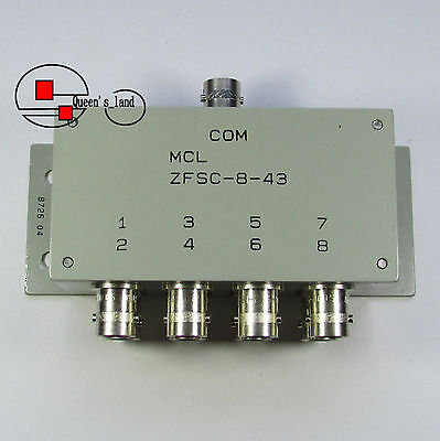 1×USED Mini-Circuits ZFSC-8-43 10-1000MHz 50Ω BNC 8-Way Power Divider Splitter