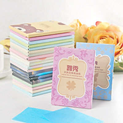 1Box 50 Sheets Make Up Oil Absorbing Blotting Facial Face Clean Paper Beauty