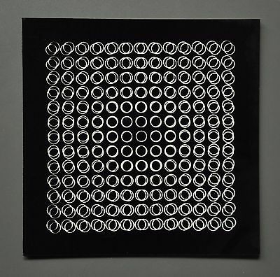 Victor Vasarely OEUVRES PROFONDES CINÉTIQUES III 1973 Op-Art Print 3-D 3D 27x27