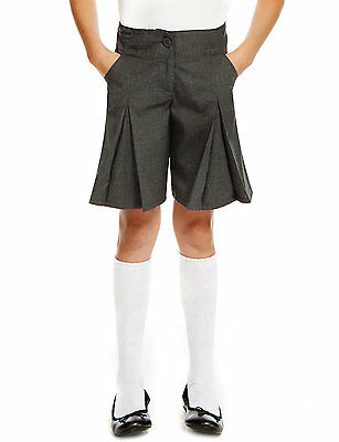 Girls School Culottes, School Uniform, School Shorts, Skort Navy & Grey