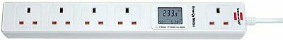 Brennenstuhl 1155403015 Eco Line Extension Socket Energy Meter 5 Gange White