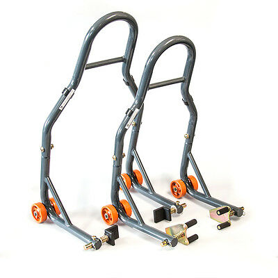 MPW Race Dept - Motocycle Front/Rear Workshop Paddock Stand Combo Pack