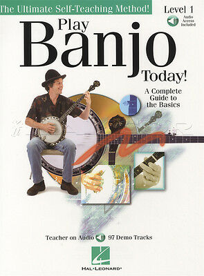 Play Banjo Today Level 1 5-String TAB Music Book with Audio Beginner Method