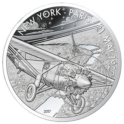 10 Euro Silver Proof Spirit St. Louis Frankreich 2017 Aviation & History France