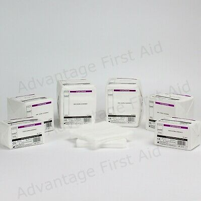 Non Sterile First Aid Gauze Swabs Cotton 8 Ply Medical. Various Qtys / Sizes.