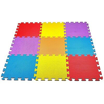Baby Play Mat Foam Floor Puzzle 9 Tiles Toddler Activity Gym Kids Safety Playmat