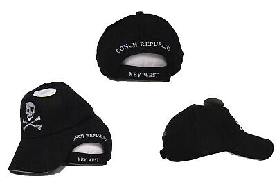 d0dcf624a Jolly Roger Eye Patch Pirate Conch Republic Key West Embroidered Ball Cap  Hat