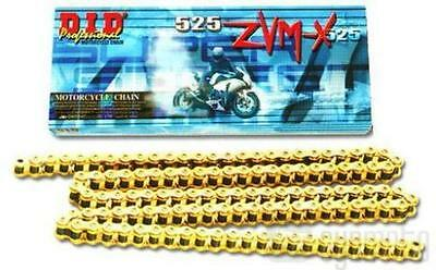 DID 525 ZVM-X Super Street X-Ring Chain 120 Links Gold