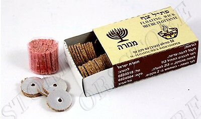 Shabbat Menorah Lamp Oil Wicks Shabbath Jewish Hanukkah Candles Candle Lights