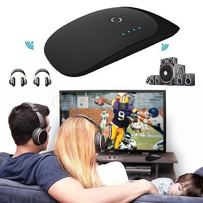 Bluetooth 2 in 1 Transmitter/Receiver Audio Sender Stereo TV Headphones