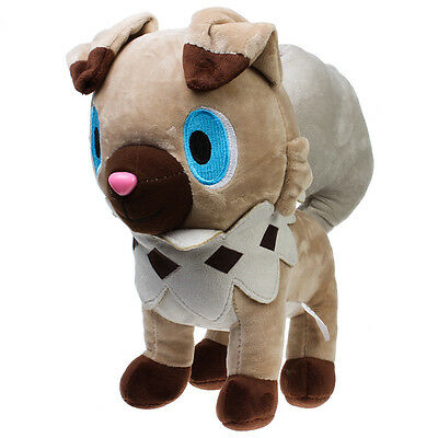 "12"" Anime Pokemon Sun&Moon Plush Rockruff (Iwanko)Soft Stuffed Doll Toy Kid Gift"