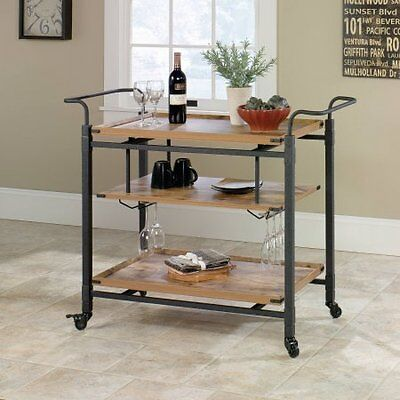 Better Homes and Gardens Rustic Country Bar Cart, Antique W