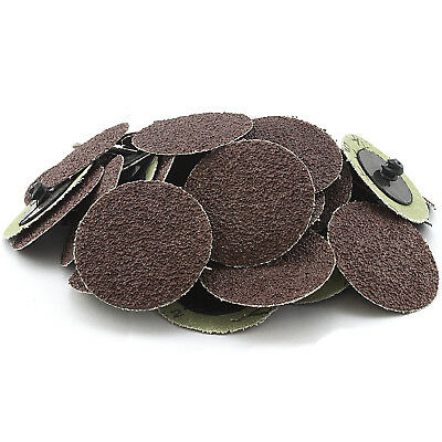 "50 Pc 36 Grit 2"" Inch Type R Roll Lock Discs Pads Sanding Roloc Abrasives 82035"