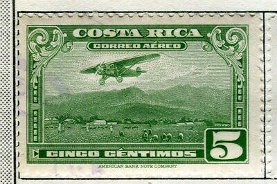 COSTA RICA;  1934 early AIR issue fine used 5c. value