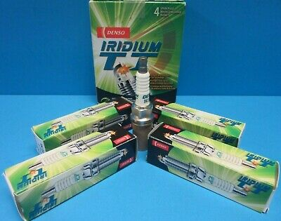 Set 4 Spark Plugs Iridium TT DENSO Twin Tip 4702 IK20TT