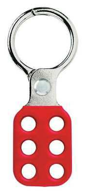MASTER LOCK 417 Lockout Hasp,Snap-On,Red,4-7/8in. L G0067929