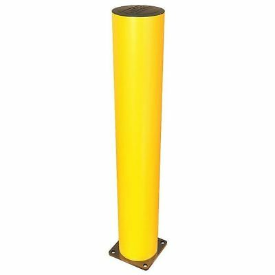 A-SAFE 006-0002 Bollard,Fixed,Flat,Polypropylene,Yellow G0159610