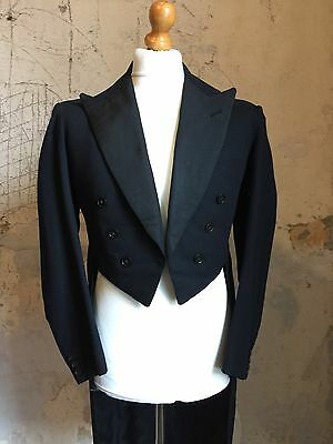 Vintage Men's 1930's White Tie Bespoke Evening Tailcoat Tails Size 40 (WT56)
