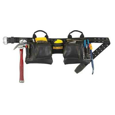 DeWalt DG5472 12-Pocket Leather Tool Belt Pouch Set New