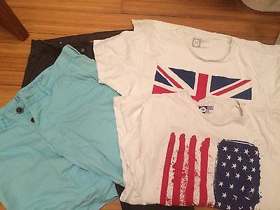 Bundle Men's Chinos, Shorts 28ins With 2 T Shirts Medium