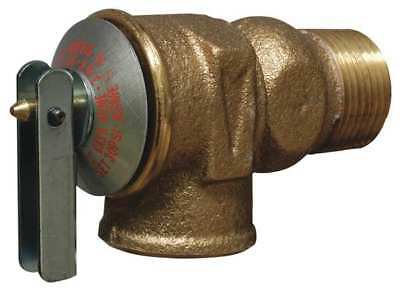 Safety Relief Valve,3/4 In,30 psi,Brass CASH ACME F-30