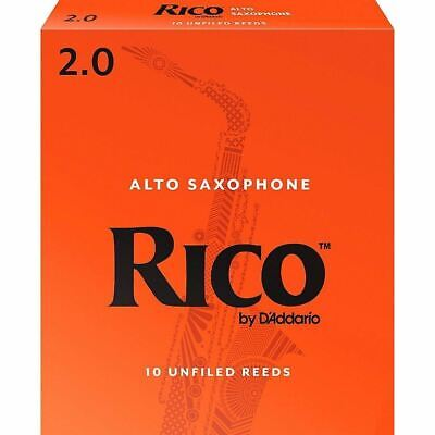 Rico by D'Addario Alto Saxophone Reeds, Strength 2, 10-pack, RJA1020