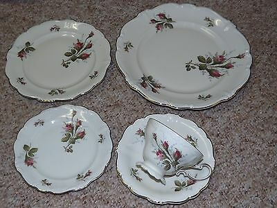 Rosenthal Germany Pompadour Moss Rose 60 pc Dinnerware Set service for 12
