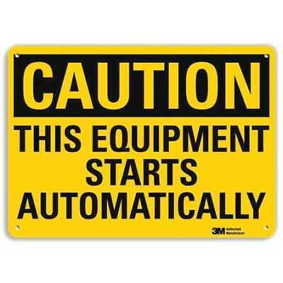 Safety Sign,Starts Automatically,7 in. H LYLE U4-1709-RA_10X7