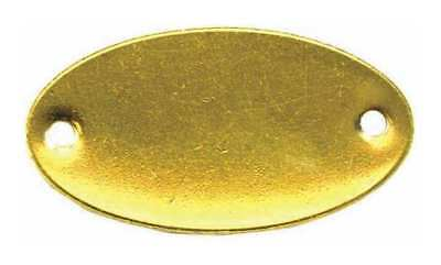 Blank Tag,2 - 1/16 in.W,Gold,Brass,PK100 C.H. HANSON 41772