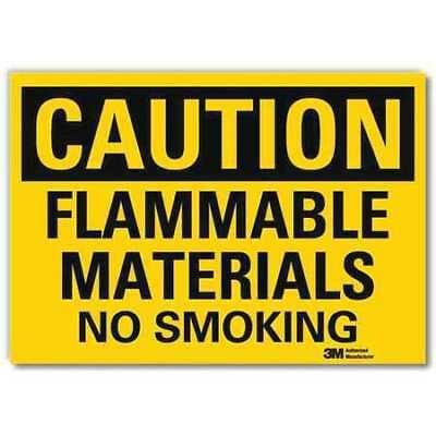 Safety Sign,Flammable No Smoking,10in.W LYLE U4-1313-RD_10X7