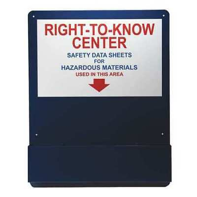 ACCUFORM ZRS708 Right-To-Know Center,Alum,Red,Blue/White