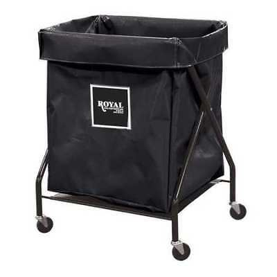 ROYAL BASKET TRUCK G08-KKX-XFA-3ONN X-Frame Cart,8.9 cu. ft.,Black,Vinyl