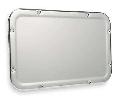 "Security Framed Wall Mirror, Stainless Steel, 17-1/4""H x 11-1/4""W"