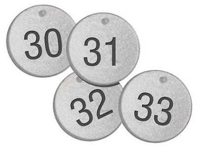 ACCUFORM SIGNS TDL154 Numbered Tags,1-1/2In,Round,101-125,PK25