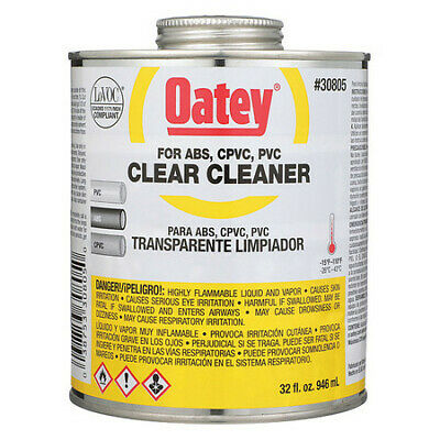 PVC Cleaner,Clear,32 oz. OATEY 30805