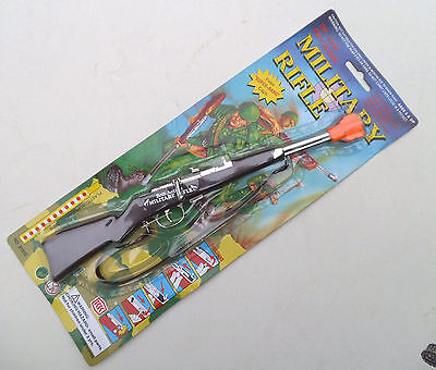 Military Style Toy Cap Rifle - Die Cast Single Shot Kid's Toy Cap Rifle