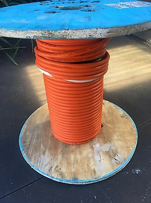 50 METERS 10mm 2Core and Earth Orange Circular TPS Electrical Cable 50 Mtrs