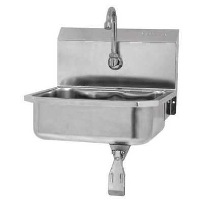 SANI-LAV 605L-0.5 Hand Sink,16 in. L,Single Knee Pedal G4053220