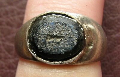 Ancient Artifact > Roman Silver Finger Ring SZ: 5 1/4 US 16mm 14761 DR