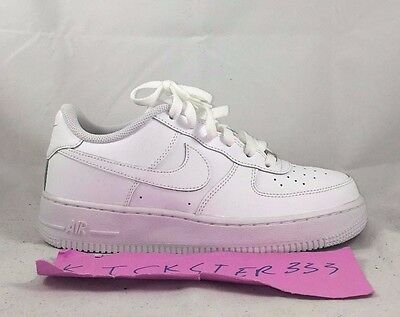 Nike Air Force 1 One Low GS All White Leather Kids Youth 314192-117 6Y