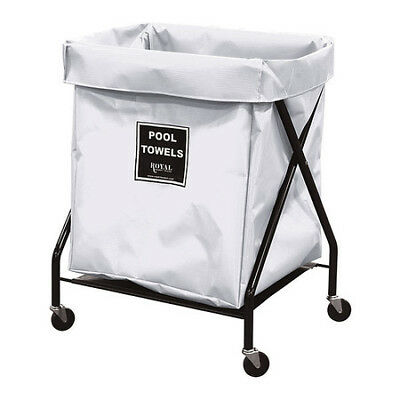ROYAL BASKET TRUCK G08-WWX-XPA-3ONN Pool Towel X-Frame, 8 bu, white vinyl