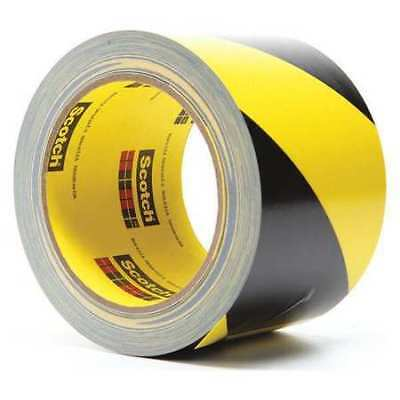 Marking Tape,Roll,3In W,Black/Ylw,PK12 3M 5702