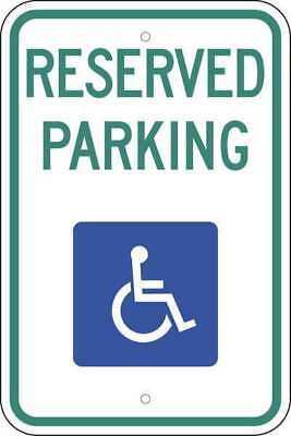 ZING 2707 Handicap Parking Sign, 24in Hx18in L