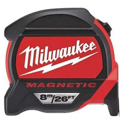 26 ft./8M Magnetic Tape Measure, Double Sided, Blue Print MILWAUKEE 48-22-7225