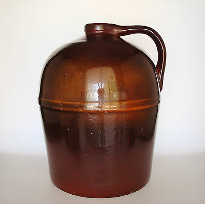 Museum Quality Ca. 1880 PEORIA POTTERY Co. Toned Brown Glazed  Stoneware Jug